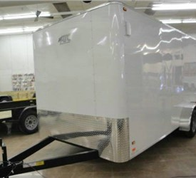 Factory Preview of 7' x 16' Enclosed Landscape Trailer