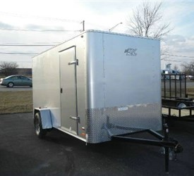 Enclosed Silver Frost 6' x 12' Motiv Cargo Trailer