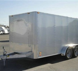 Enclosed Silver Frost 7' x 14' Motiv Cargo Trailer