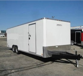 Enclosed Polar White 8' x 24' Motiv Landscape Trailer