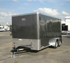 Enclosed Medium Charcoal 7' x 14' ATC – Aluminum Trailer Company Cargo Trailer