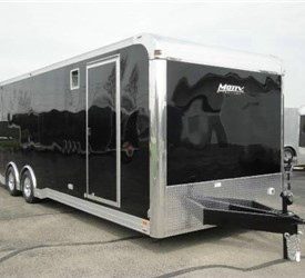 Enclosed Black 8.5' x 28' ATC – Aluminum Trailer Company Enclosed Car Hauler