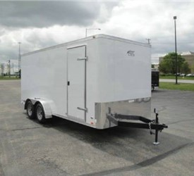Enclosed Polar White 7' x 16' ATC – Aluminum Trailer Company Cargo Trailer