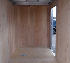 "Custom 5' x 8' Cargo Trailer with 32"" Side Door"