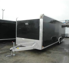 Enclosed Black 8.5' x 24' ATC – Aluminum Trailer Company Car Hauler