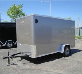 Enclosed Light Pewter Metallic 6' x 12' ATC Cargo Trailer
