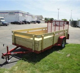 "Open Red 6'4"" x 12' JB Enterprises Utility Trailer"