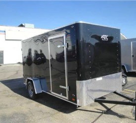 Enclosed Black 6' x 12' ATC Cargo Trailer