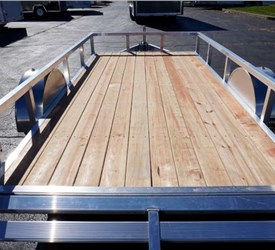 Wood Decked 6' x 12' All Aluminum Open Utility Trailer