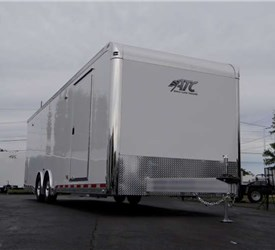 Custom 28' Car Hauler with Extruded Aluminum Interior Flooring