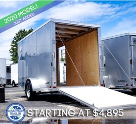 ATC 6'x12' Enclosed Cargo Trailer - Silver Frost