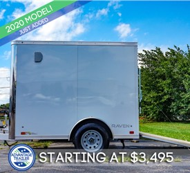 ATC 5'x8' Enclosed Cargo Trailer - White