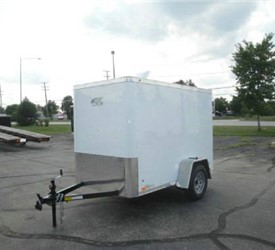 Enclosed Polar White 5' x 8' ATC – Aluminum Trailer Company Cargo Trailer