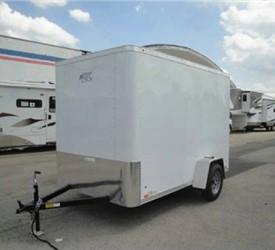 Enclosed Polar White 6' x 10' ATC – Aluminum Trailer Company Cargo Trailer