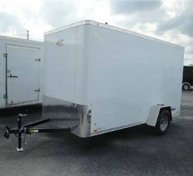 Enclosed Polar White 6' x 12' ATC – Aluminum Trailer Company Cargo Trailer