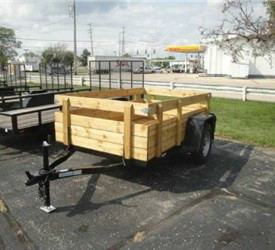 "Open Black 5' x 8'4"" JB Enterprises Utility Trailer"