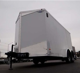 7' x 14' White Cargo Trailer with Screwless Exterior
