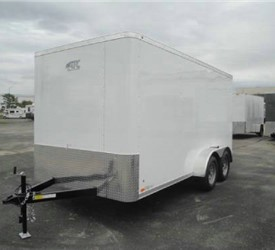 Enclosed Polar White 7' x 14' ATC – Aluminum Trailer Company Cargo Trailer