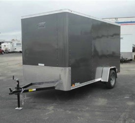 Enclosed Medium Charcoal 6' x 12' ATC – Aluminum Trailer Company Cargo Trailer