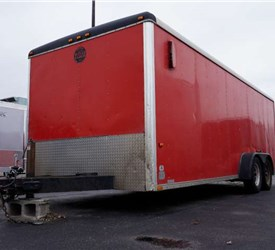 Used 1997 7' x 20' Wells Cargo Landscape Trailer