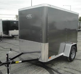 Enclosed Medium Charcoal 5' x 8' ATC – Aluminum Trailer Company Cargo Trailer