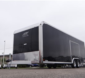 Custom 24' Black Car Hauler with Escape Door