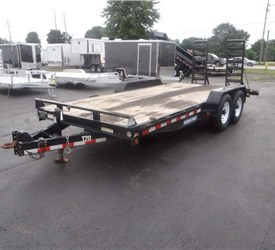 USED 2015 7' x 18' Implement Trailer with Adjustable Pintle