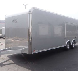24' Silver Frost Car Hauler With Premium Escape Door