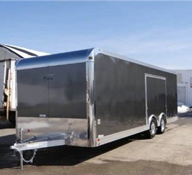 Enclosed Charcoal Metalic 8.5' x 24' ATC – Aluminum Trailer Company Car Hauler Trailer