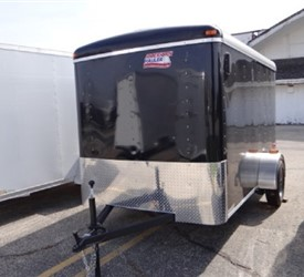 Enclosed Black 6' x 10' American Hauler Cargo Trailer with Rear Ramp
