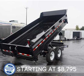 Sure-Trac 14' Dump Trailer With Ramps and Under Bed Storage