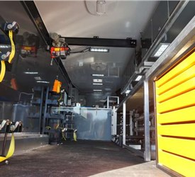 Mobile Field Office and Repair Shop for a Provider of Robotic Well Solutions