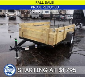 """6' 4"""" x 10' Open Utility Trailer with Removable Sides & Gate - Fall Sale!"""