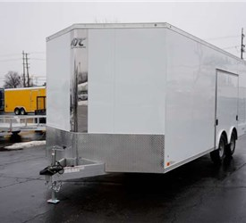 Polar White Car Hauler with 2 Foot Wedge Nose