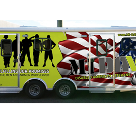 Disabled Military Veteran Mobile Service Office