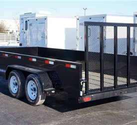 7' x 16' High Sided Utility Trailer