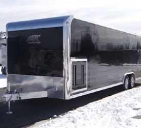 Enclosed Black 8.5' x 28' ATC – Aluminum Trailer Company Car Hauler Trailer