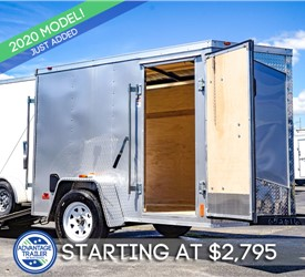 MTI 5'x8' Enclosed Cargo Trailer - Silver