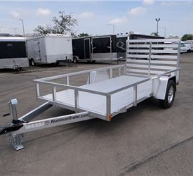 Open Aluminum 6' x 12' Utility Trailer by ATC with Aluminum Rims