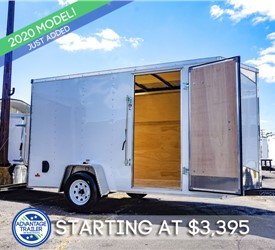 MTI 6'x12' Enclosed Cargo Trailer - White