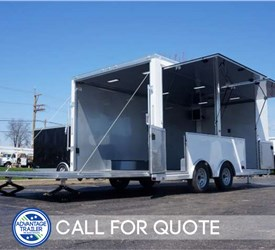 18' Mobile Pop-Up Storefront with Rear Stage Door