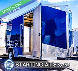 MTI 6'x12 Enclosed Cargo Trailer - Indigo Blue