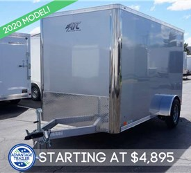 6' x 12' Silver Frost Cargo Trailer with Rear Ramp Door
