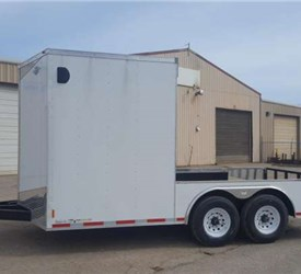 8.5' x 16' Mobile Jobsite Trailer with 10 foot Open Rear Porch