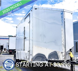 Stealth Titan 6x12 Enclosed Cargo Trailer - White