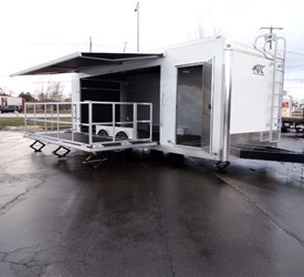 24' Mobile Marketing Trailer with 15' Stage Door