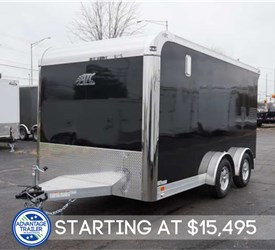 7.5' x 14' Enclosed Motorcycle Hauler