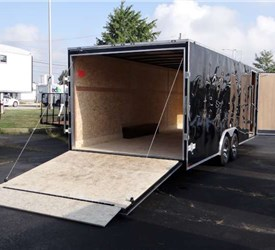 Enclosed 24 Foot Mustang Car Hauler