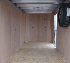 Custom Photography 6' x 12' Cargo Trailer with 2' Wedge Nose