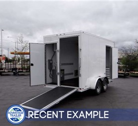 Custom 7' x 14' Mobile Workshop for a National Environmental Company
